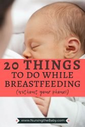 here are some fun things to do while breastfeeding