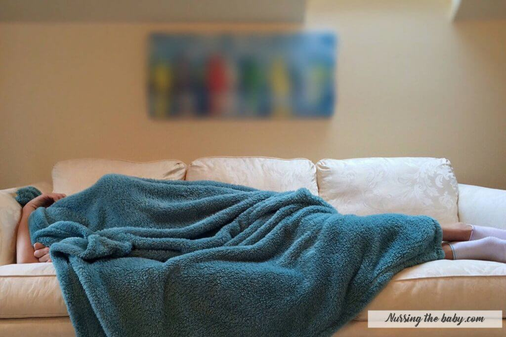 sick sleeping couch throw blanket blue cover lazy yucky cancer