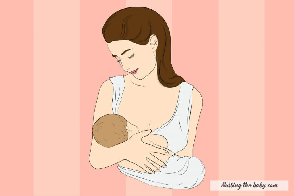 cradle hold is a the quintessential breastfeeding position