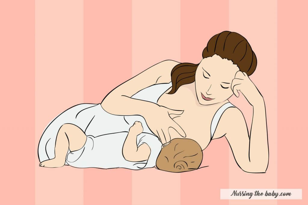 side lying hold is the easiest breastfeeding position