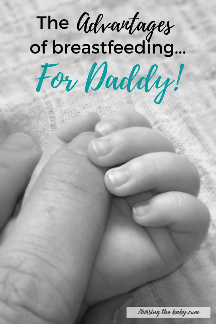 Dads are awesome! Unfortunately, they're rarely included when we talk about the benefits of breastfeeding. So here's what's in it for the guys!
