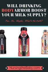 Can BodyArmor really increase milk supply for breastfeeding moms?