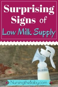 these are the signs of low milk supply