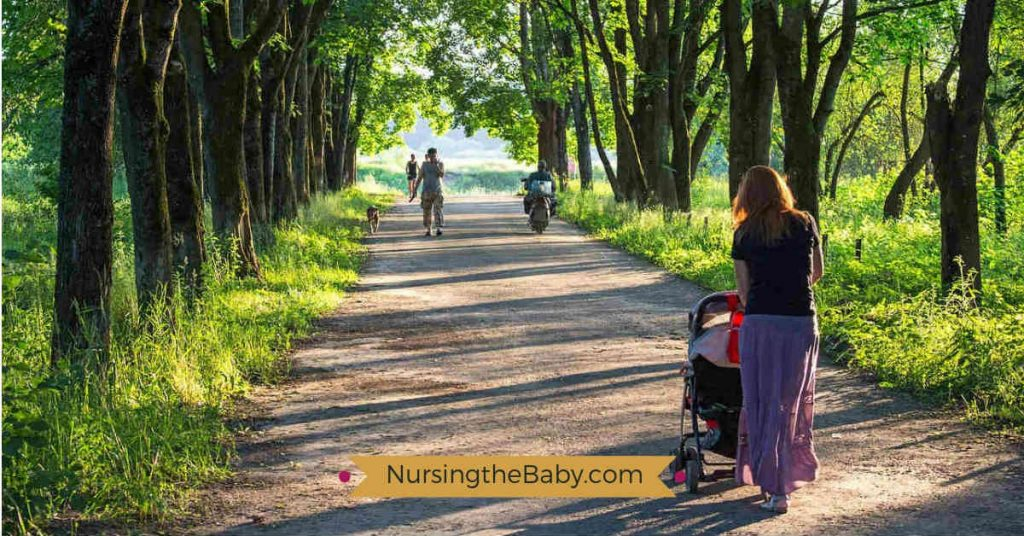 getting outdoors helps make breastfeeding after a C-section more tolerable